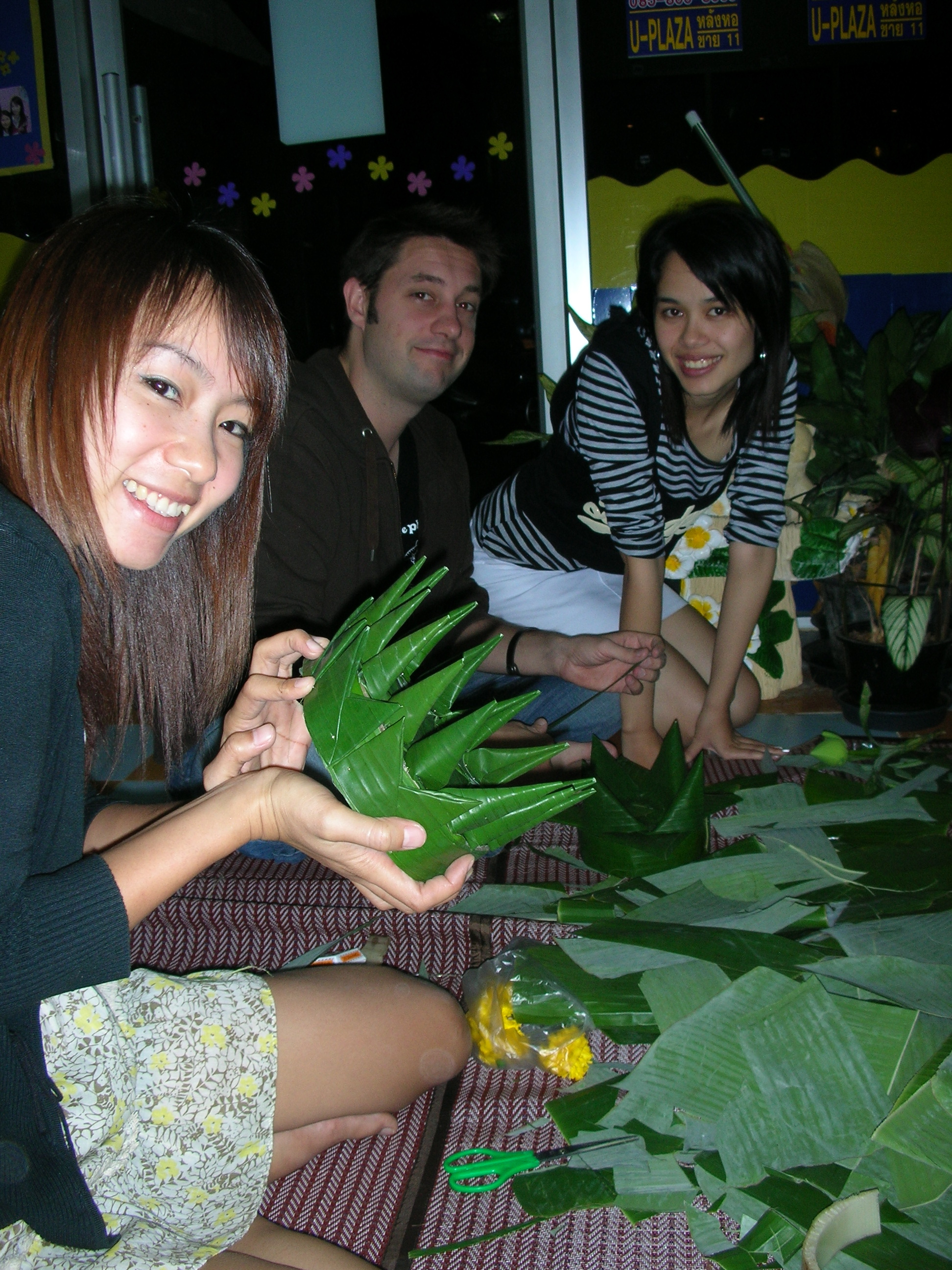 My krathong building teachers.