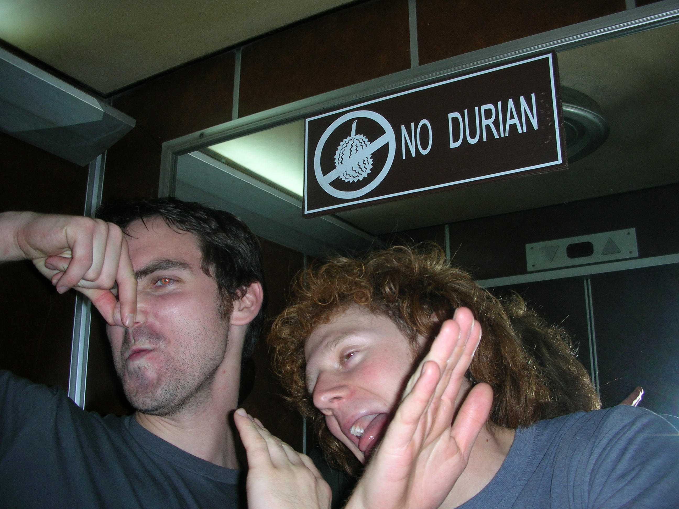 NO DURIAN IN THE ELEVATOR!!